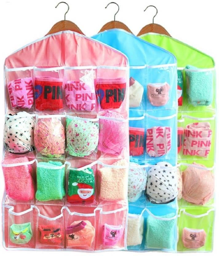 c4fcef692751 BRANDER 16 Pockets Closet Door Home Wall Hanging Organizer Storage Bags  Pouch {MULTI-COLOR}