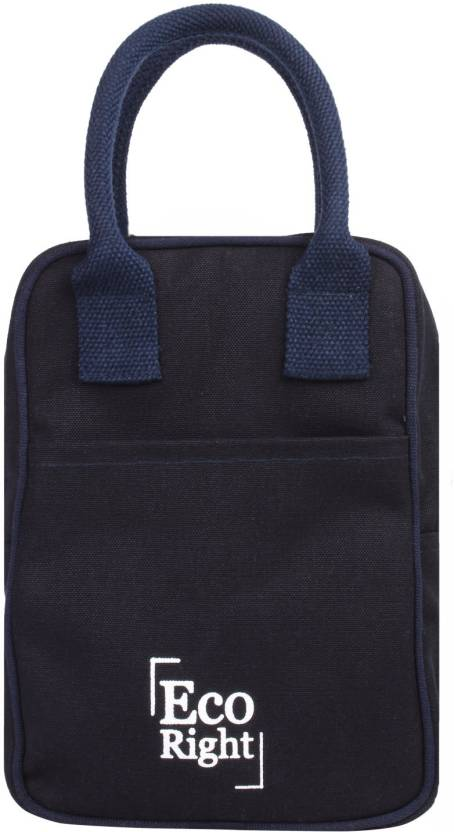 452c91deb EcoRight Reusable Lunch Tote Bag - Cotton Canvas Eco Friendly Insulated  Cooler Washablewith Zipper for Men