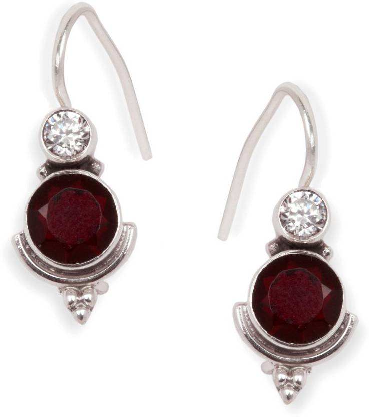 e0d012a60 Flipkart.com - Buy PeenZone PeenZone 92.5 Sterling Silver Ruby Earrings For  Women & Girls Ruby Sterling Silver Drop Earring Online at Best Prices in  India