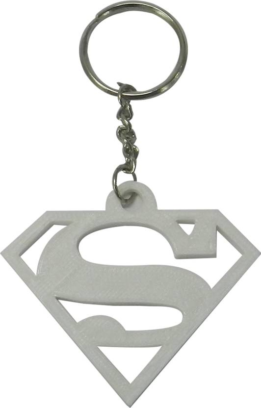 Tesseract Superman Logo White Keychain Key Chain Price in India ... d34d5d672