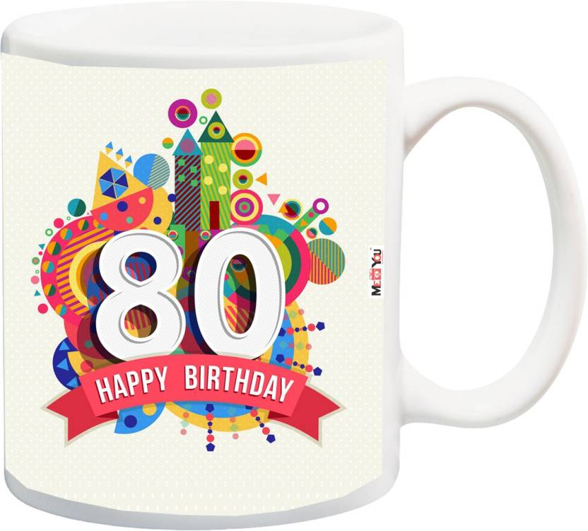 MEYOU Gift For 80th Birthday Unique Grandfather Grandmother Father Mother Brother Sister IZ18SRMU 1338 Ceramic Mug 325 Ml