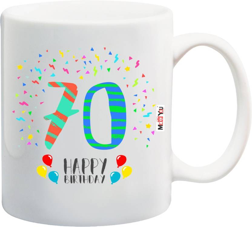 MEYOU Gift For 70th Birthday Unique Grandfather Grandmother Father Mother Brother Sister IZ18SRMU 1426 Ceramic Mug 325 Ml