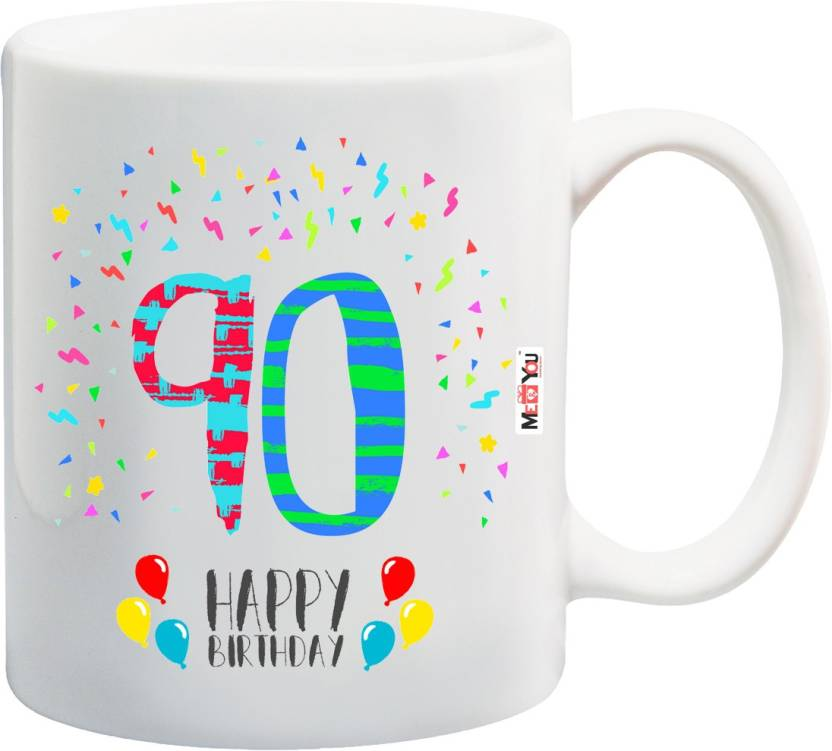 MEYOU Gift For 90th Birthday Unique Grandfather Grandmother Father Mother Brother Sister IZ18SRMU 1430 Ceramic Mug 325 Ml