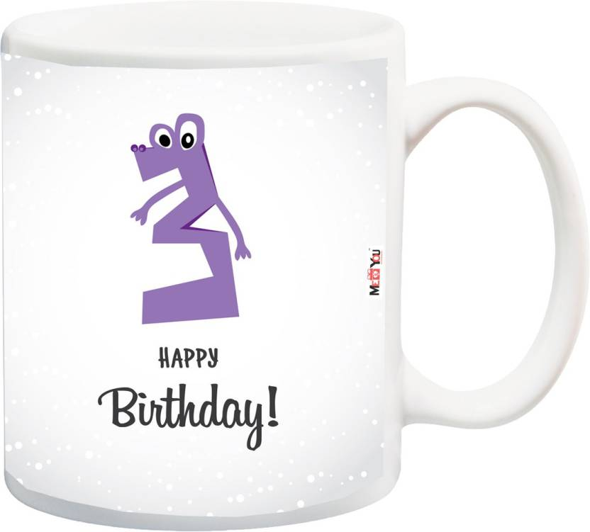MEYOU Gift For 3rd Birthday Personalized And Unique Third Kids Boy Girls Cousin Brother Sister IZ18SRMU 1479 Ceramic Mug 325 Ml
