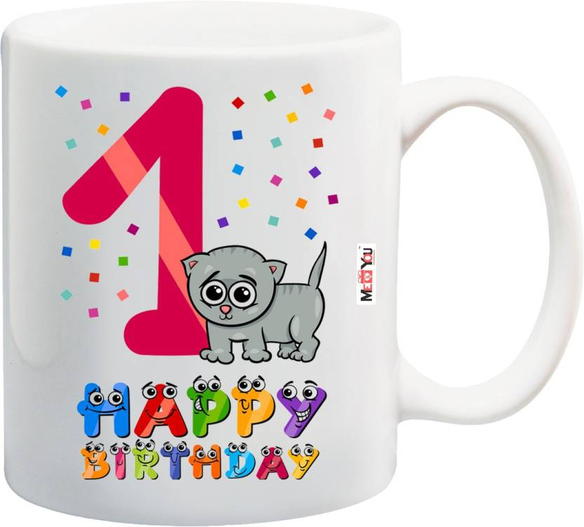 MEYOU Gift For 1st Birthday Personalized And Unique First Kids Boy Girls Cousin Brother Sister IZ18SRMU 1318 Ceramic Mug 325 Ml