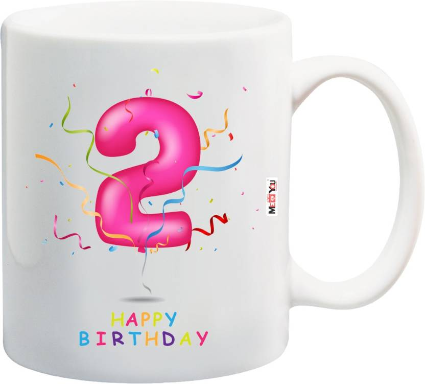 MEYOU Gift For 2nd Birthday Personalized And Unique Second Kids Boy Girls Cousin Brother Sister IZ18SRMU 1380 Ceramic Mug 325 Ml