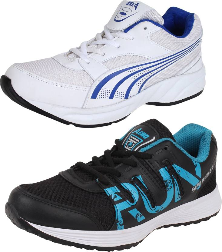 0c256516bec279 Aero 02 Pair Combo AMG Performance Running Shoes For Men - Buy Aero ...