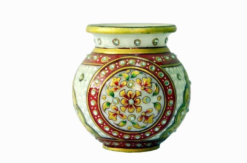 Ages Art Marble Flower Design Lota Stoneware Vase Price in