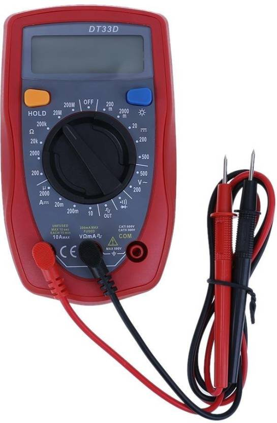 Techtest New DT33D multimeter digital Square Wave Signal Output low price  probe ac dc pocket best battery meter electrical leads set mini repair  small
