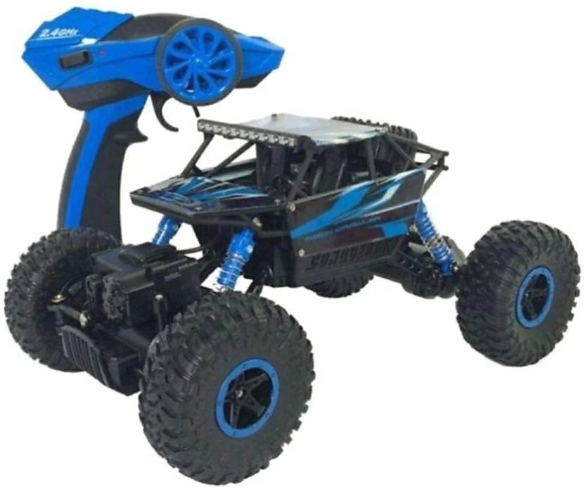 1d300f540 SANJARY Dirt Drift Waterproof Remote Controlled Rock Crawler RC Monster  Truck, Four wheel Drive, 1:18 Scale 2.4 (Blue) (Multicolor)