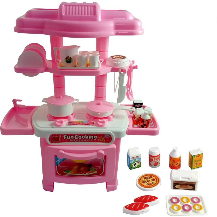M Alive Carry Along Mini Kitchen Set Battery Operated With Light And