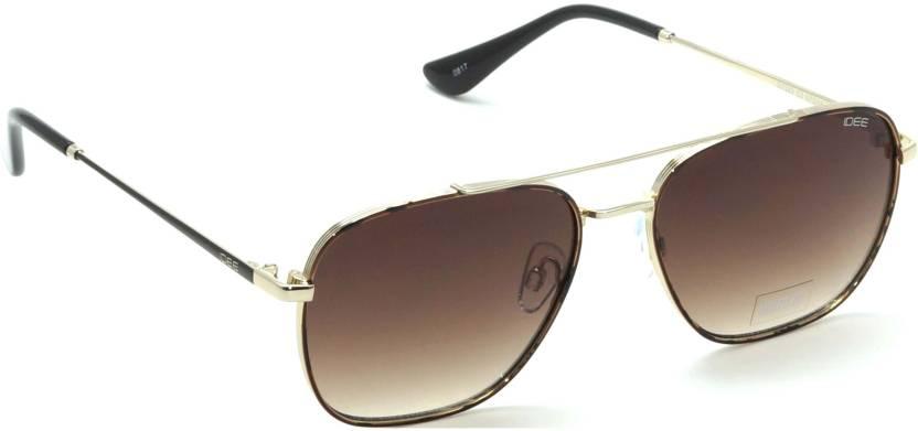 c8d0b14f5d Buy IDEE Retro Square Sunglasses Brown For Men   Women Online   Best ...