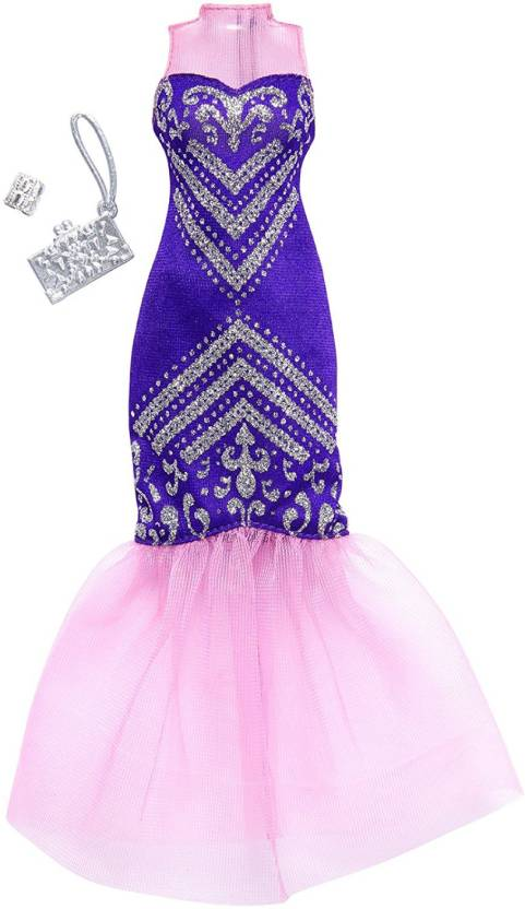 Barbie Complete Looks Purple Mermaid Gown - Complete Looks Purple ...