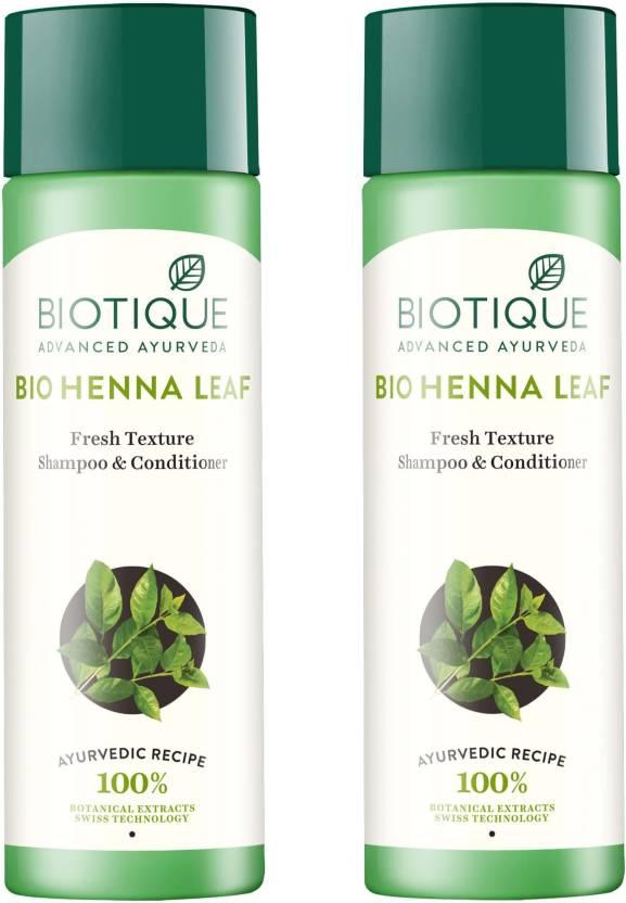 Biotique Bio Henna Leaf Fresh Texture Shampoo Conditioner For