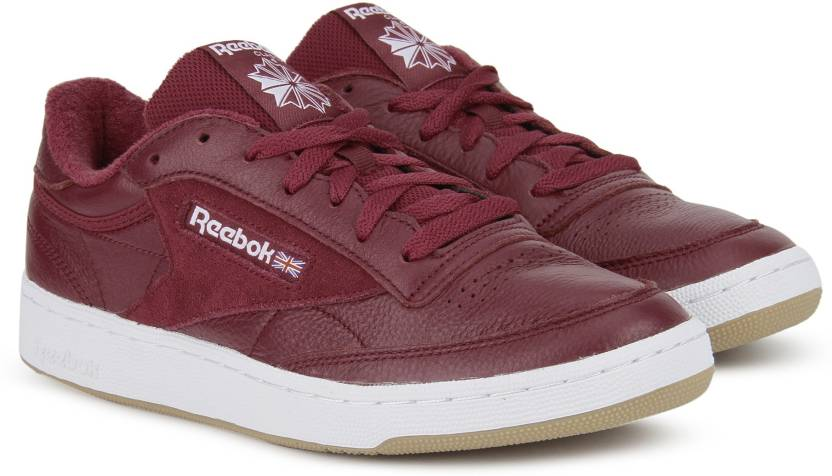 b0beaaaf3fa7 REEBOK CLUB C 85 ESTL Sneakers For Men - Buy URBAN MAROON WHT ...