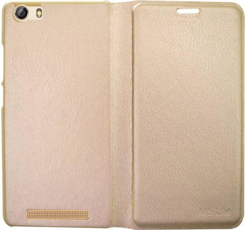 sale retailer dc591 9e6da COVERNEW Flip Cover for Gionee Marathon M5 Lite