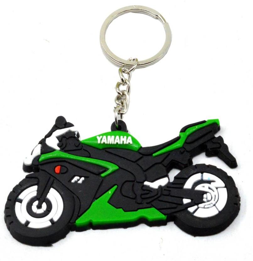Yamaha Black Circle Rubber Keyring//Key Ring Motorcycle Racing Collectible Gift
