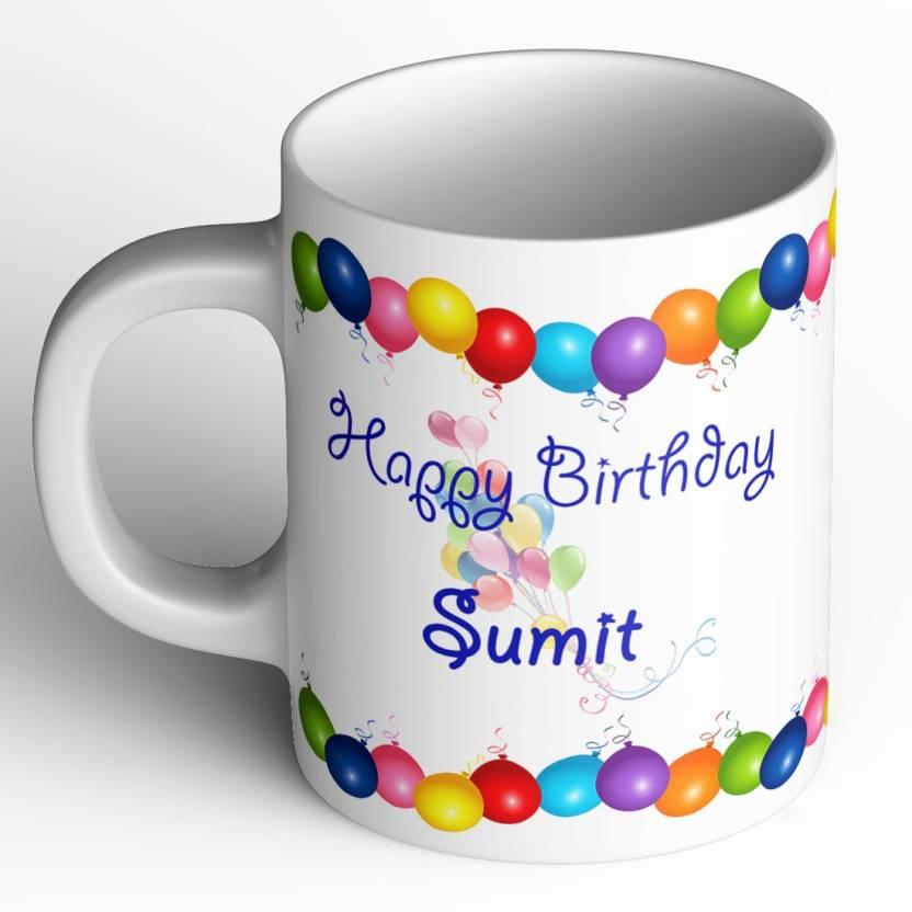 Abaronee Happy Birthday Sumit B001 Ceramic Mug Price In India