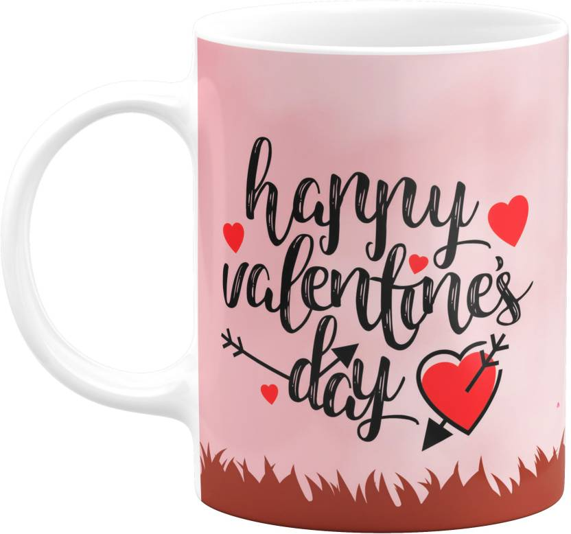 Eagletail India Happy Valentines Day Gift Ceramic | Valentine Gift for girlfriend, boyfriend, husband, wife | Printed coffee mug (Ceramic) Ceramic Mug (350 ...
