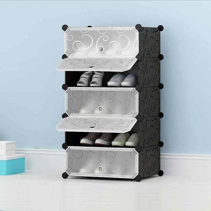 House Of Quirk Shoe Rack Plastic Shoe Storage Organizer Cabinet