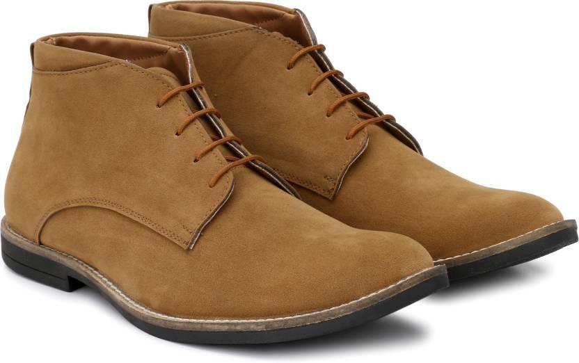 c45fadb7753 Hirel's Hirel's Tan Suede Chukka Boots Outdoors For Men