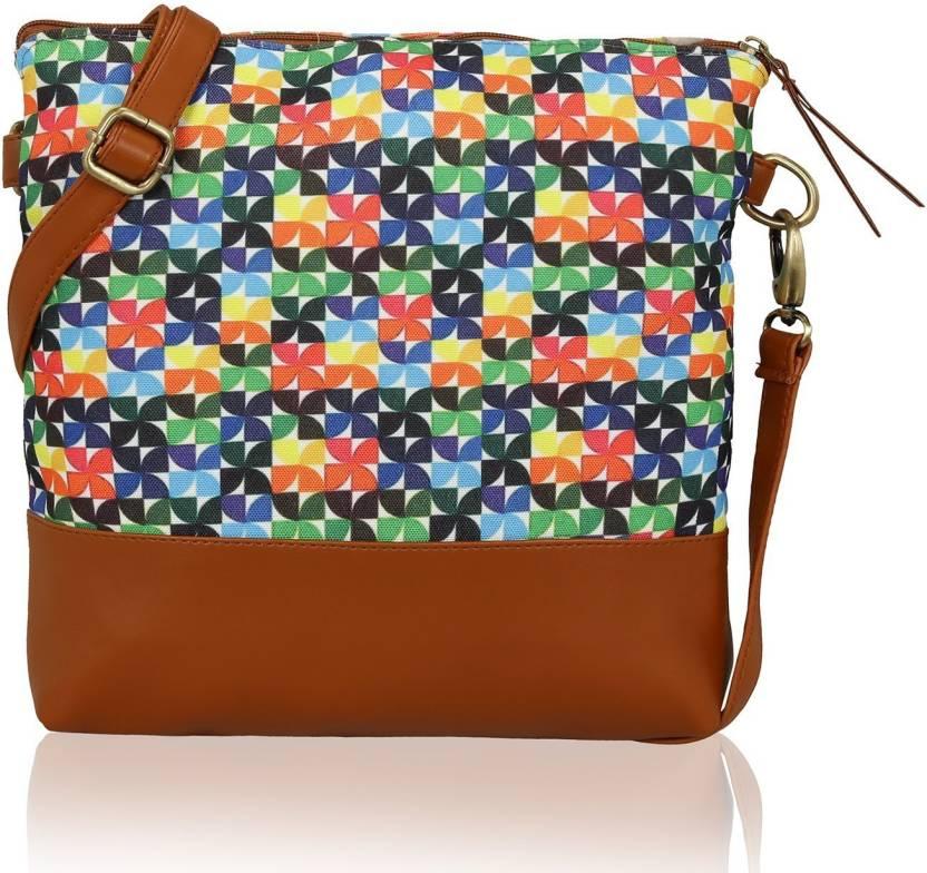 743d610f234 Kleio Women Casual Multicolor Canvas Sling Bag Multicolor - Price in India