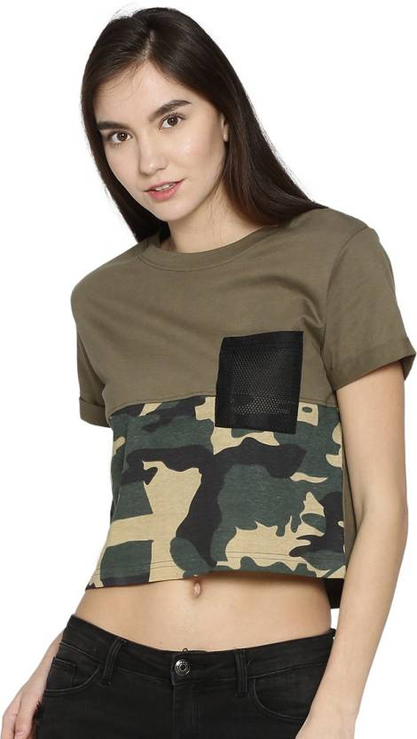 5237c39705e68 Campus Sutra Casual Half Sleeve Self Design Women's Green Top - Buy Campus  Sutra Casual Half Sleeve Self Design Women's Green Top Online at Best  Prices in ...
