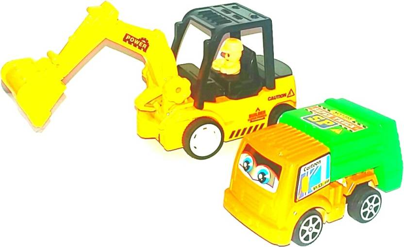 Srp Toys High Quality Set Of Two Unbreakable Toys Jcb And Small