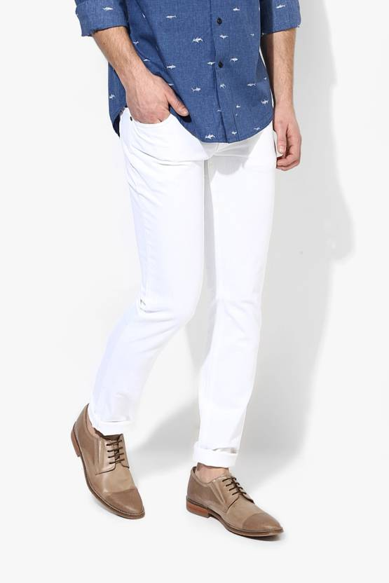 a0196784067 Halogen Skinny Men s White Jeans - Buy Halogen Skinny Men s White Jeans  Online at Best Prices in India