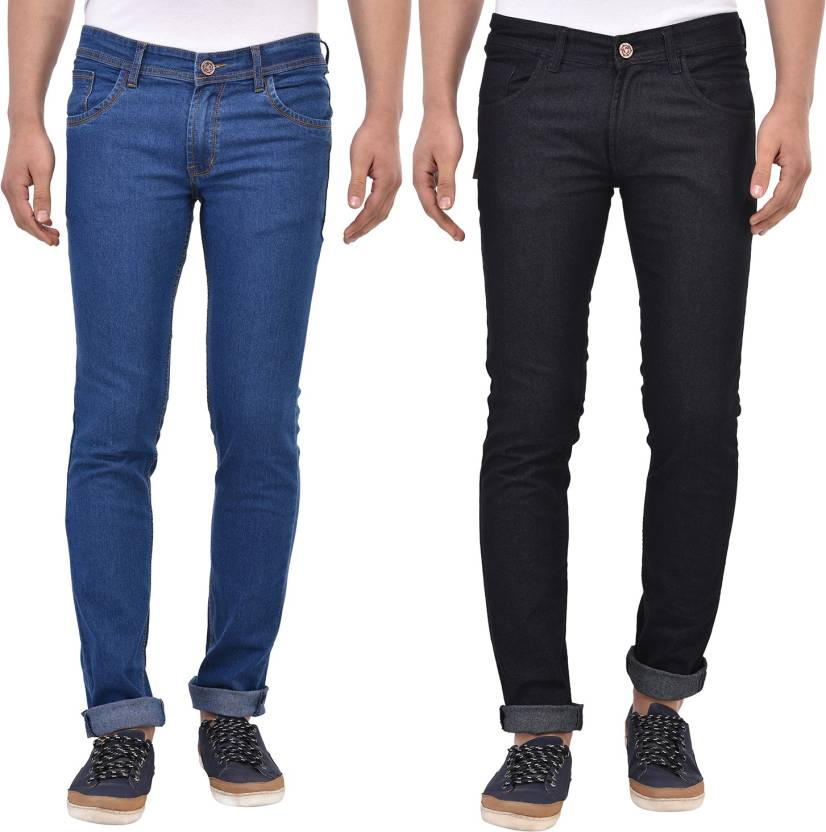4660cd89 Stylox Slim Men's Multicolor Jeans - Buy Blue Stylox Slim Men's ...