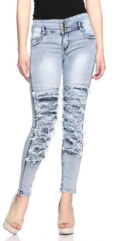 e9e409e6cd8 Fasnoya Skinny Women Grey Jeans