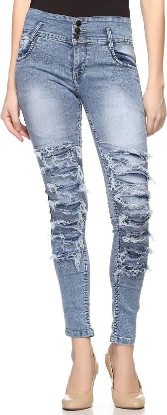 ec2d765278d Fasnoya Skinny Women s Blue Jeans - Buy Blue Fasnoya Skinny Women s ...