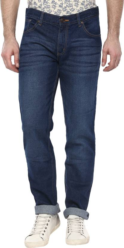 CR8 Slim Mens Dark Blue Jeans