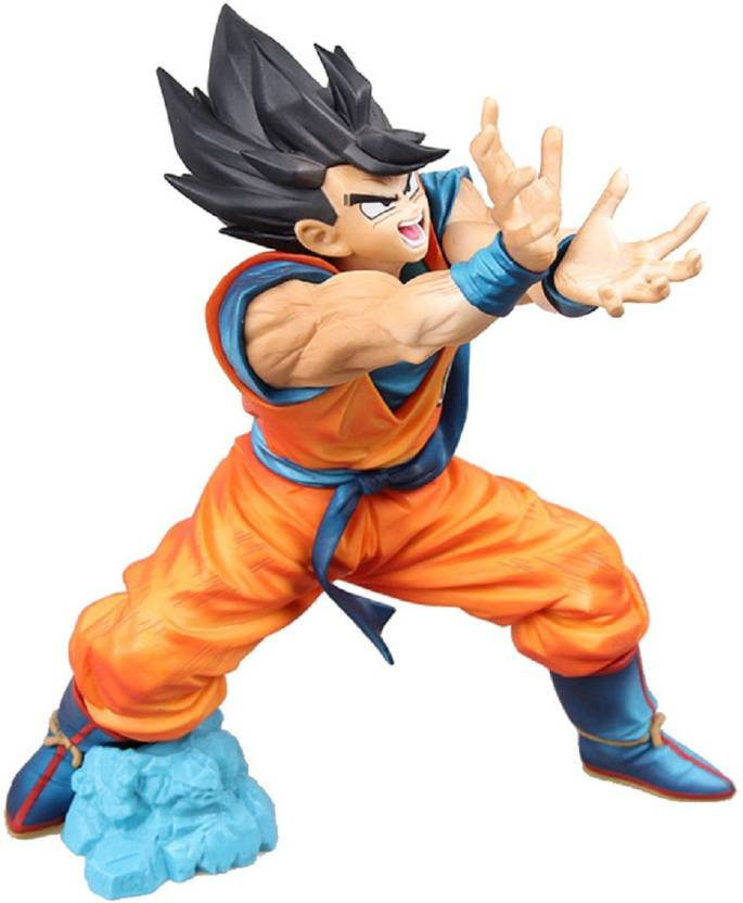 0ad475f8bef Toy Mela Japanese Anime DBZ Super Saiyan Dragon Ball Z Goku Gohan Vegeta  PVC Action Figures Collectible Toys (Goku Kamehameha Attack Mode