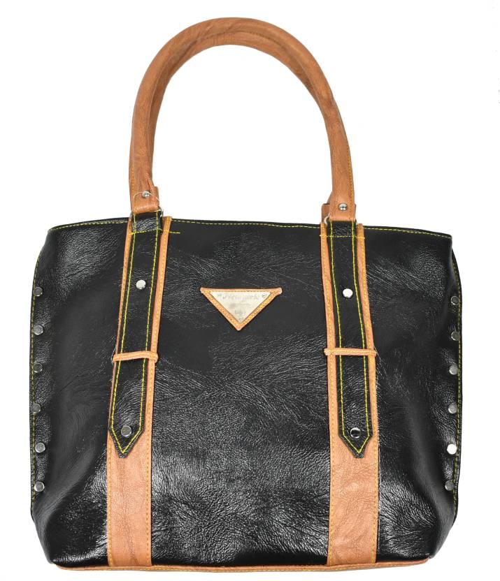 b12ecbe6c78c7 DNA INFINITY Premium Leatherette Designer Women's Handbag/ Tote Bag (DIY45)  Waterproof Shoulder Bag (Black, 5 L)