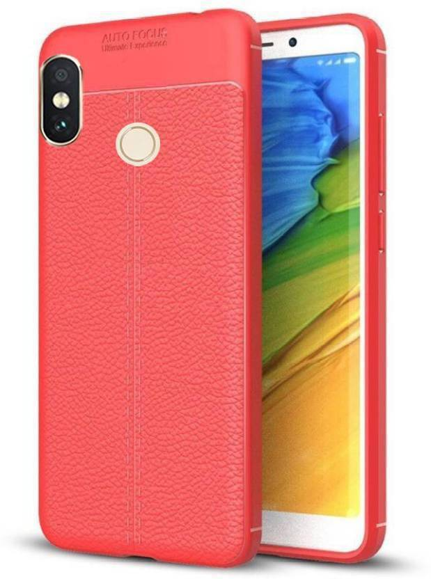 Johra Back Cover for Mi Redmi Note 5 Pro (Red, Dual Protection, Flexible Case)