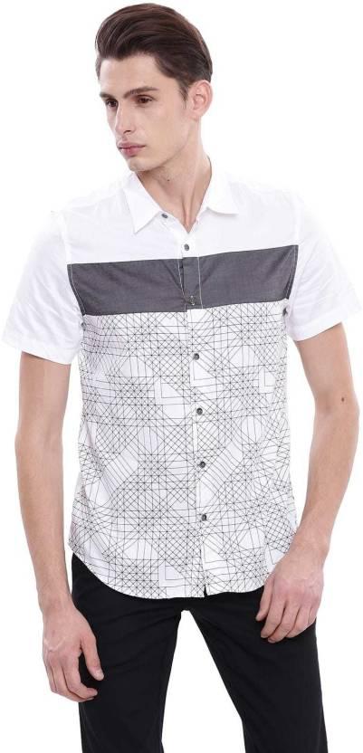 3b98b7d4967c Guess Men Self Design Casual White Shirt - Buy Guess Men Self Design Casual  White Shirt Online at Best Prices in India | Flipkart.com
