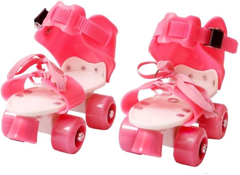 Civil Roller Skates Shoes For Kids   Childrens - UNISEX (PINK) In-line Skates  Quad Roller Skates - Size 4-8 UK (Multicolor) 99cf176f4da6