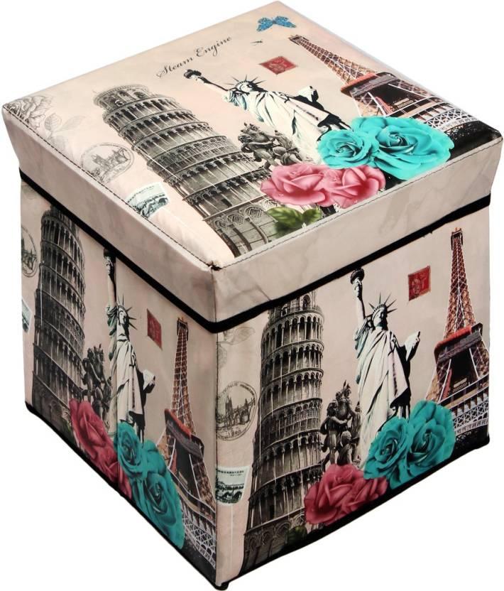 Continental Storage Box Portable Foldable Laundry Sitting Stool Folding