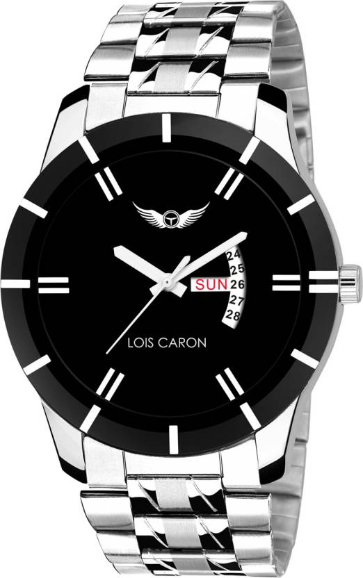 Lois Caron LCS-8049 BLACK DIAL DAY & DATE FUNCTIONING Watch - For Men