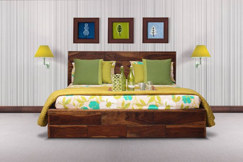 Peachtree Myra Platform King Size Bed Solid Wood King Bed Price In