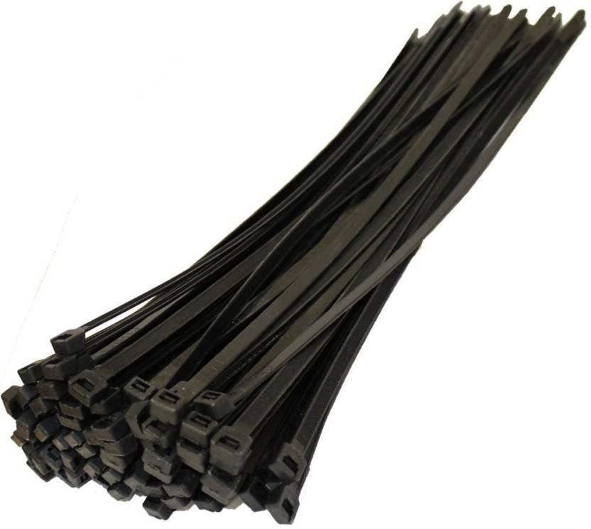 Black Zip Ties >> Alexvyan 500 Pcs 6 Inch Cable Ties 150 Mm 3 6 Mm Black Nylon Zip Wire Organiser Standard Quality Flexible Self Locking Tie Nylon Flexible Straps