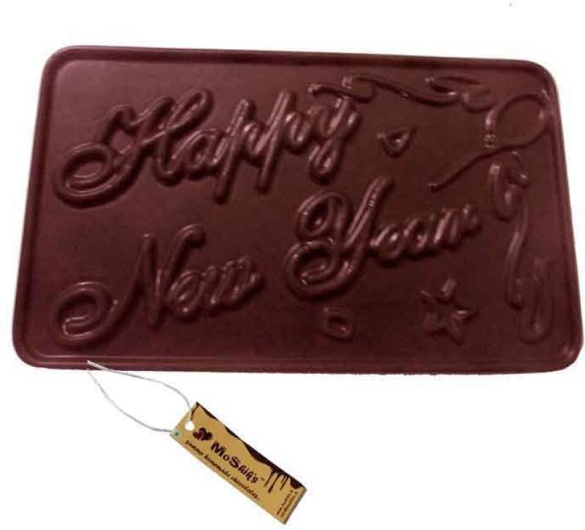 moshiks happy new year 200 gm dark chocolate bar bars