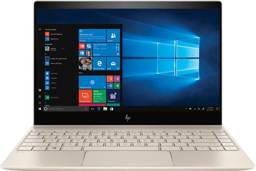 HP Envy Core i3 7th Gen - (4 GB/128 GB SSD/Windows 10 Home) 13-ad079TU Thin and Light Laptop(13.3 inch, Gold, 1.32 kg) HP Laptops