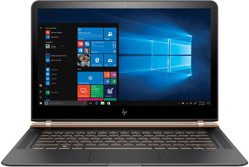 HP Core i7 7th Gen - (8 GB/512 GB SSD/Windows 10 Home) 13-V122TU Thin and Light Laptop(13.3 inch, Dark Ash SIlver, 1.1 kg)