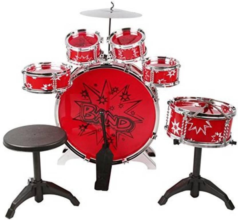 Generic Night Lions Tech (Tm) Music Jazz Rock Drum Set Toy Big Band