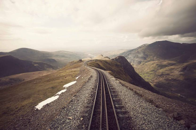 Exclusive AZOHP1427 Rail Track And Nature Full HD Poster Latest Best