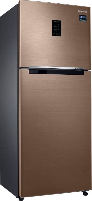 Samsung 324 L Frost Free Double Door Top Mount 3 Star Refrigerator(Refined Bronze, RT34M5538DP/HL)