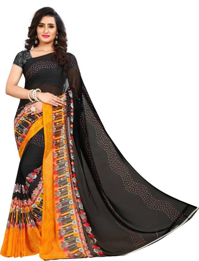 173d5f1488 Buy Kashvi Sarees Printed Fashion Faux Georgette Multicolor Sarees ...