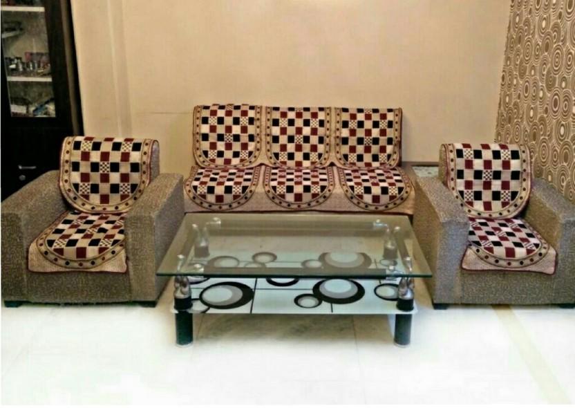 SHREE KHATU PRINTS Cotton Sofa Cover